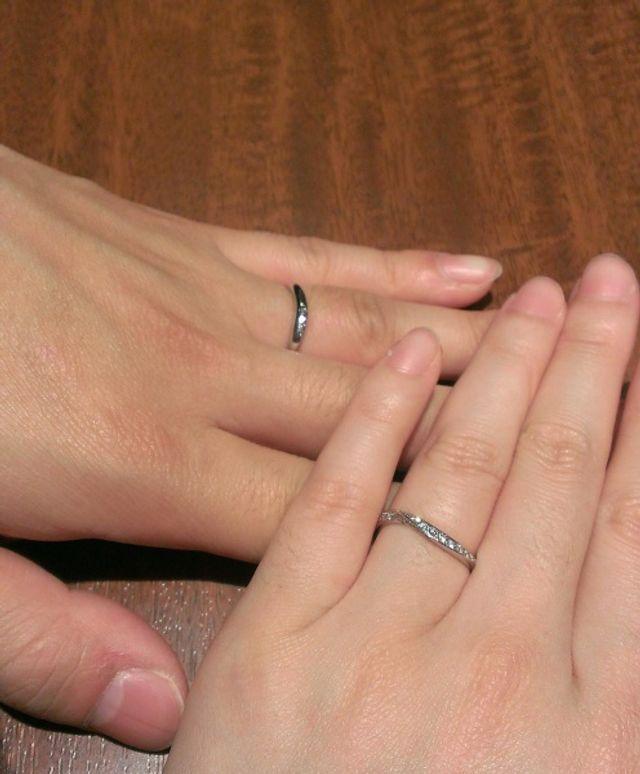 細めの指輪です!