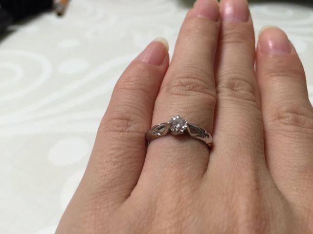 シャネルの婚約指輪です。