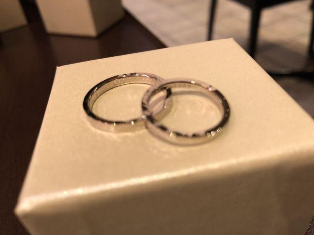 自分たちで手作りした指輪です。