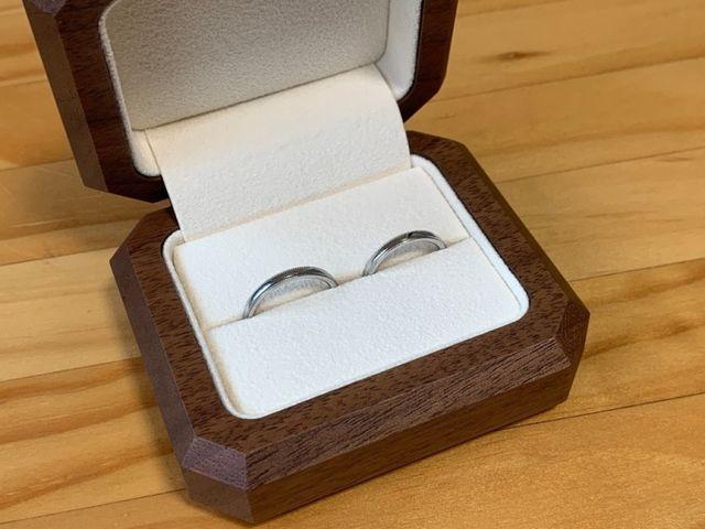 オーソドックスなミル打ちの指輪