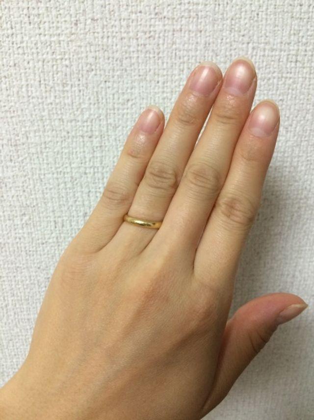 指輪をはめた状態