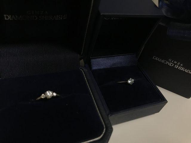 彼がプレゼントしてくれたプロポーズリングと婚約指輪