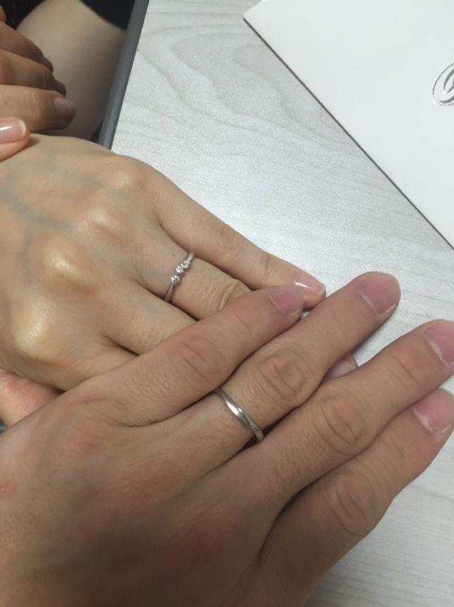 購入したペアの指輪
