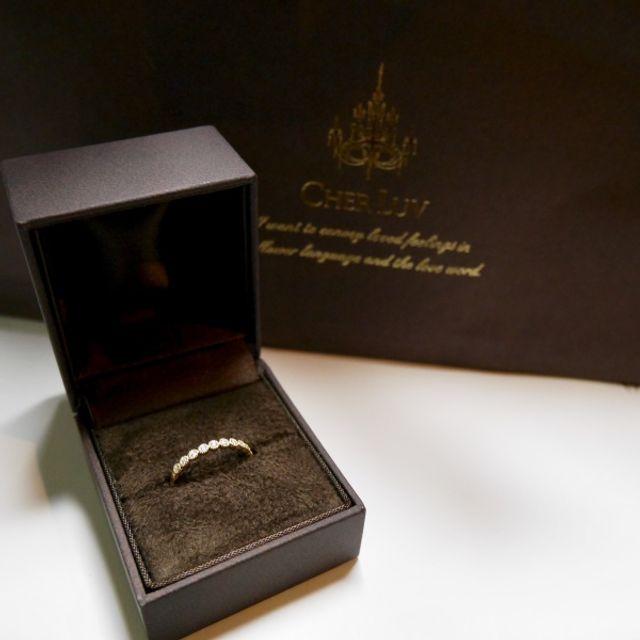 ハーフエタニティの婚約指輪です。