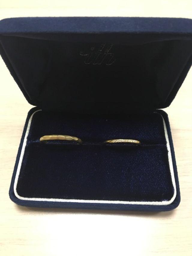 二人の好みを尊重した素敵な指輪ん選ぶことができました。