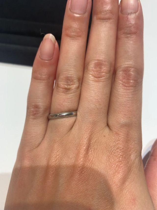 ミル打ちの指輪です