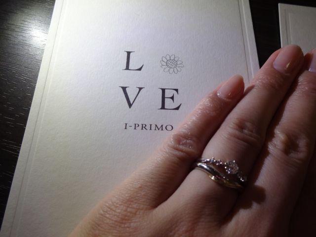 結婚指輪との組み合わせ (セットリングではない)