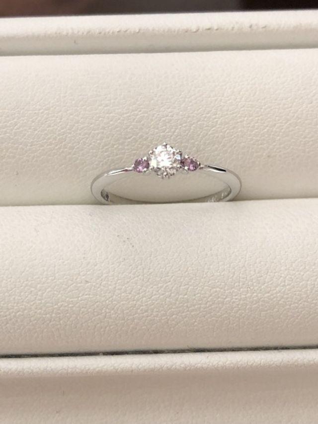 完成した指輪の写真です。