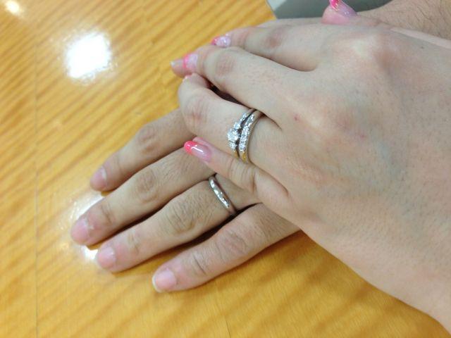 婚約指輪、結婚指輪、全てブランドはミキモトです。