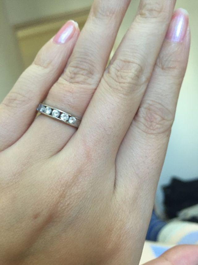 ダイヤモンド入の結婚指輪