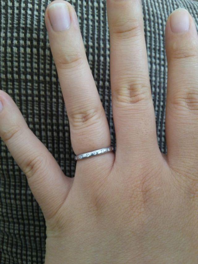 4℃のシンプル系の指輪です