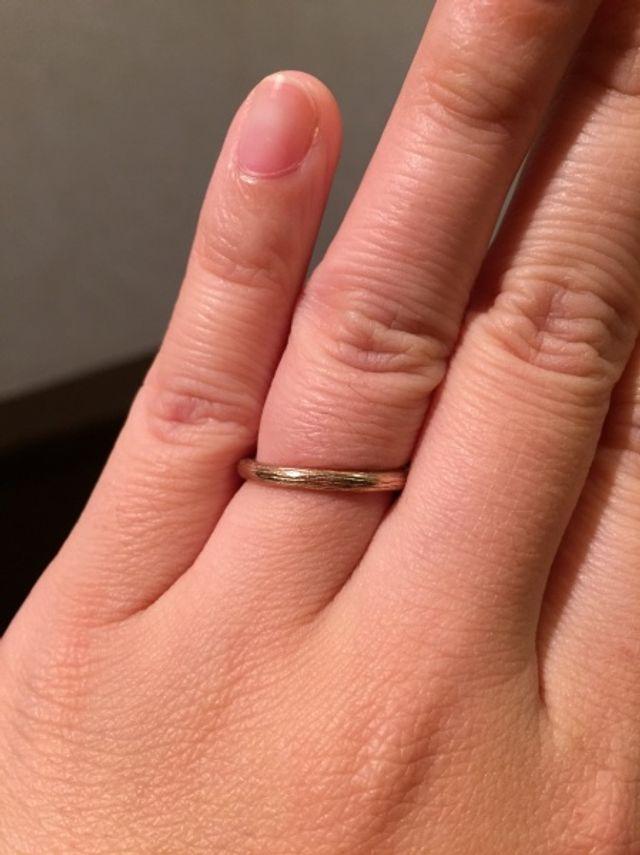 ウッド柄の結婚指輪