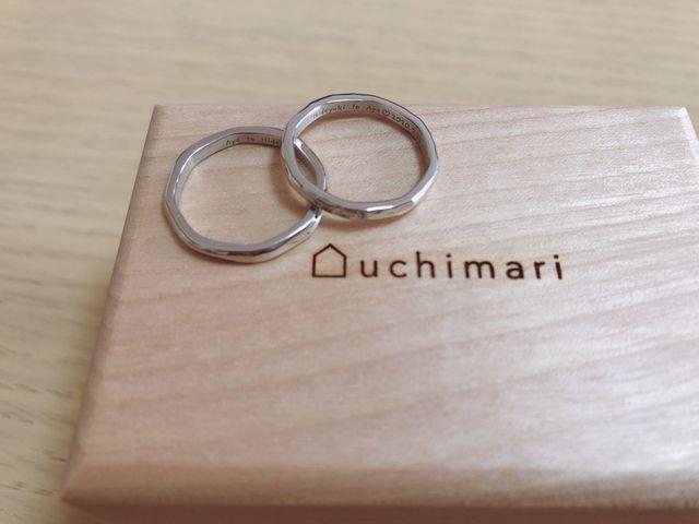 2人で手作りした結婚指輪です。