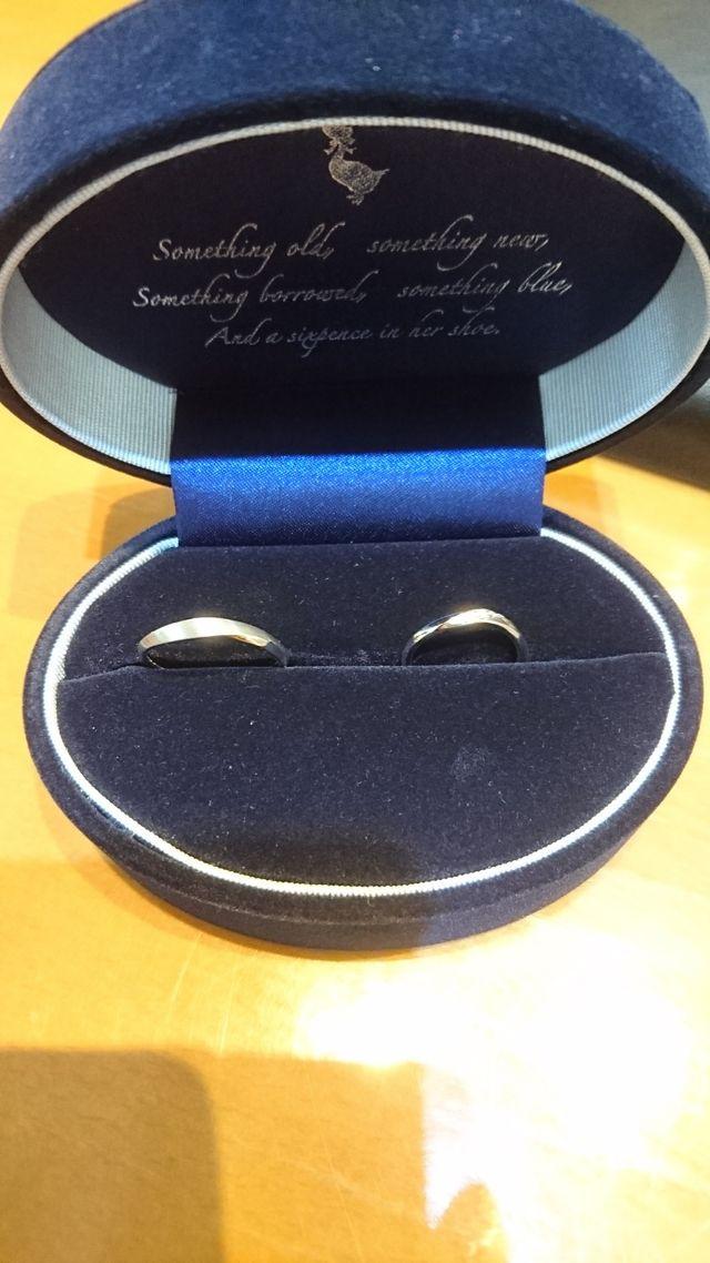 購入した指輪です。 ダイヤモンドが付いています