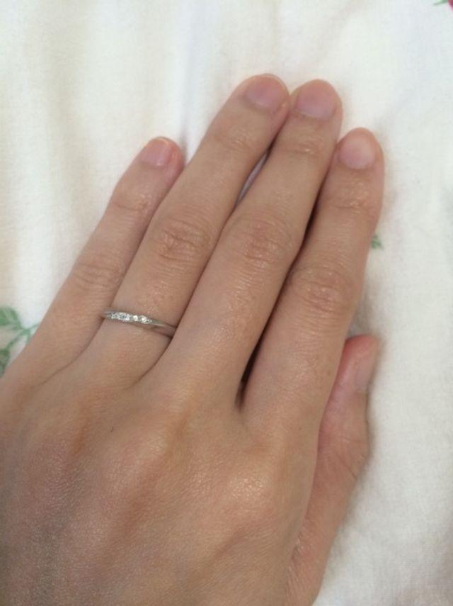 結婚指輪 5粒ダイヤ