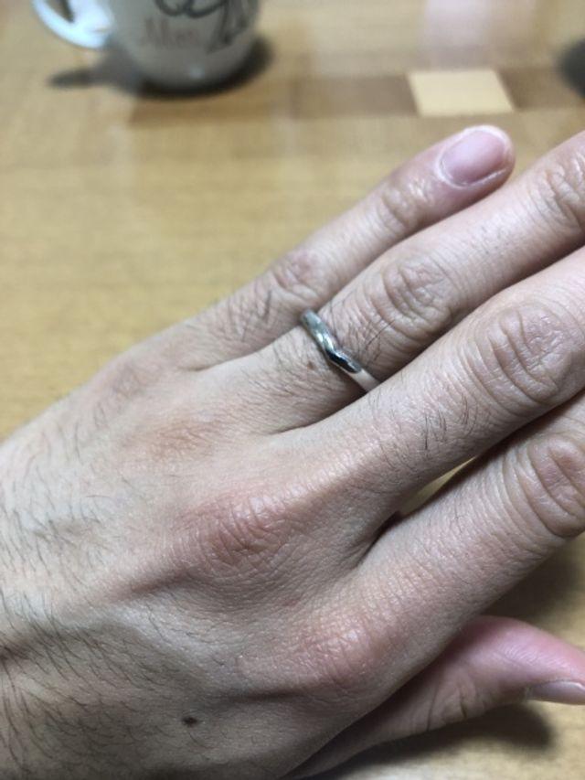 自宅で撮影 結婚指輪 18号ティリア
