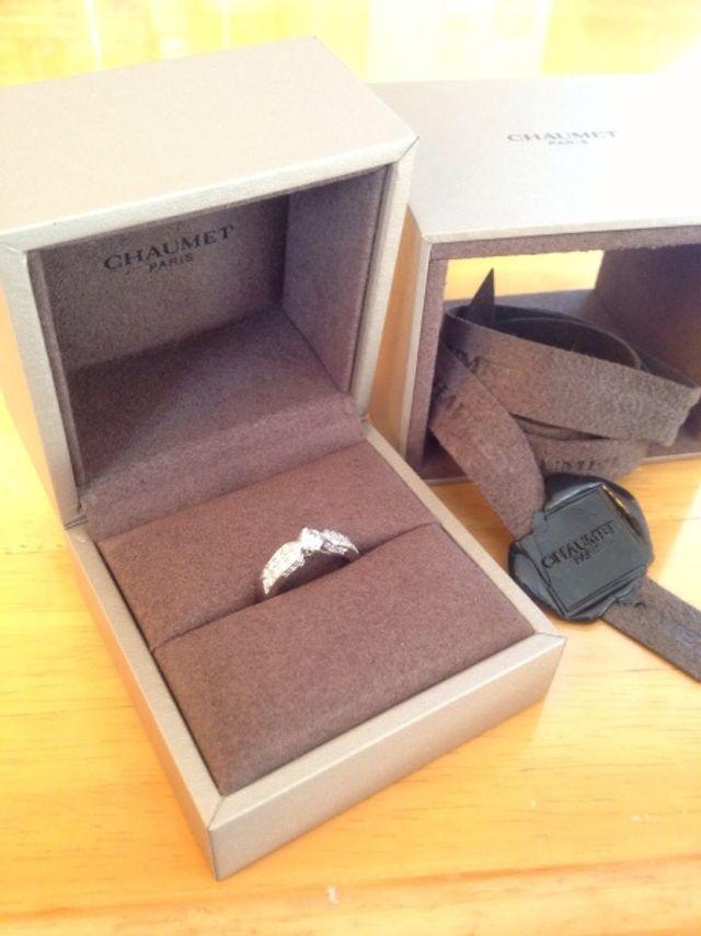 憧れのショーメの婚約指輪