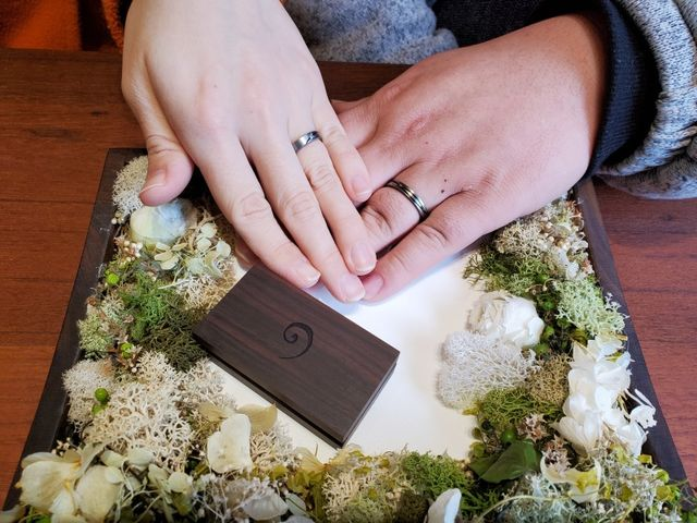 完成した指輪の引き取り日の写真です。