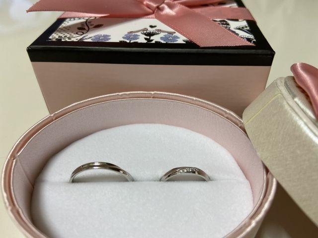 とっても素敵な結婚指輪です‼︎