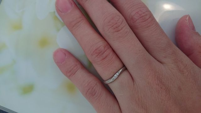 ダイヤのラインがとても綺麗です