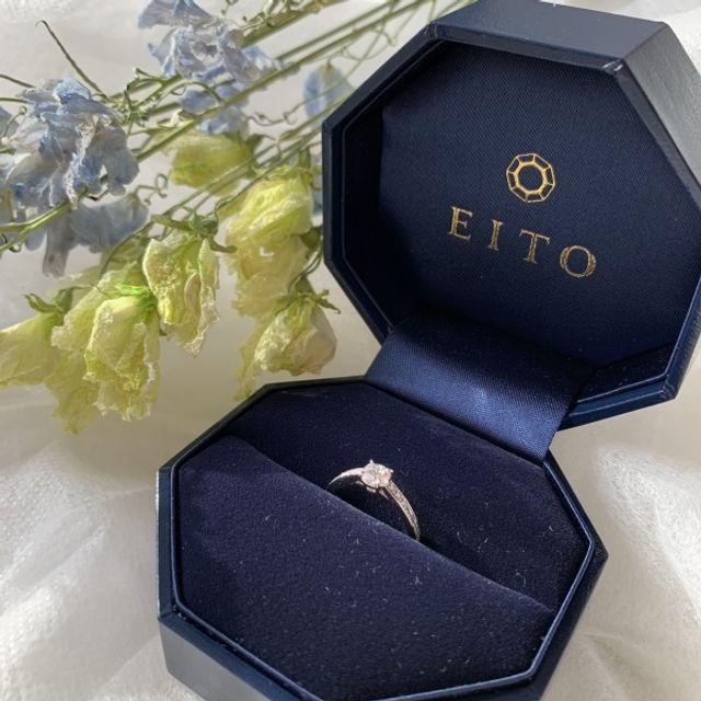 ダイヤが大きく、指輪が華奢に見える!