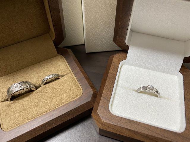 模様が1周入っていて日本の指輪とはひと味違った仕上がりです。
