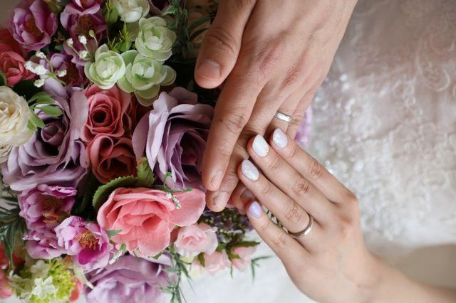 結婚式での1枚