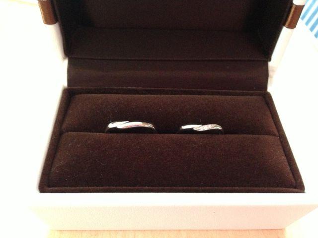 結婚指輪です。