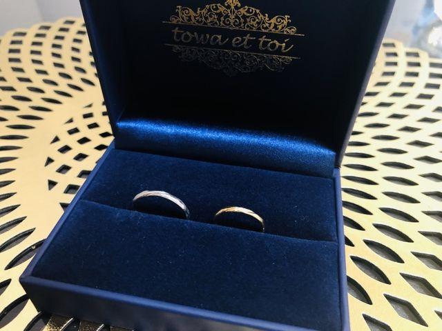 購入時の専用ボックスと結婚指輪です