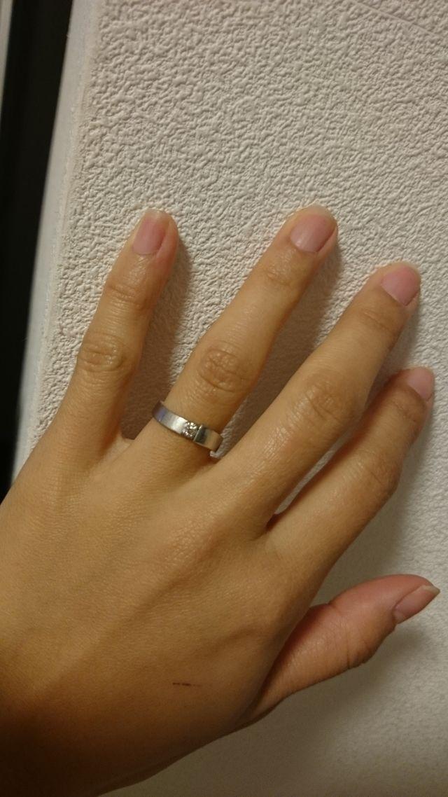 女性側の指輪です。
