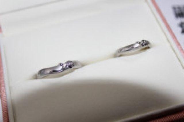 ケイウノさんの結婚指輪です。