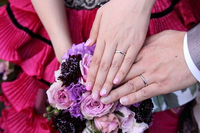 結婚式当日に撮っていただいたものです。