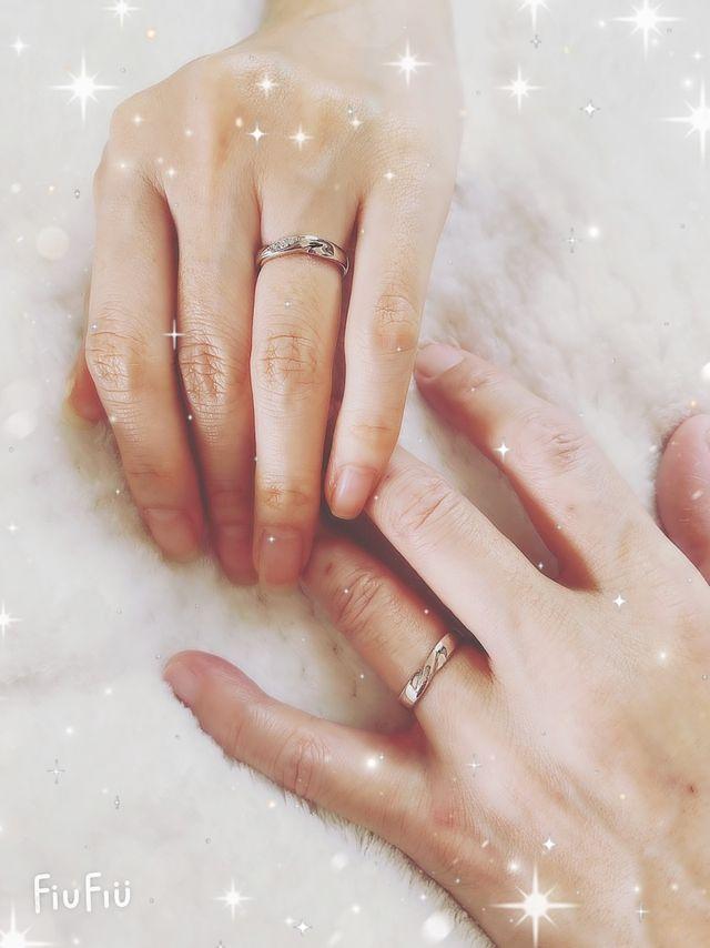 2人で気持ちを込めながら手作りした大切な指輪です。