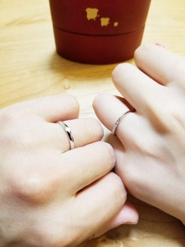 結婚した実感が湧きました。デザインも大満足です!