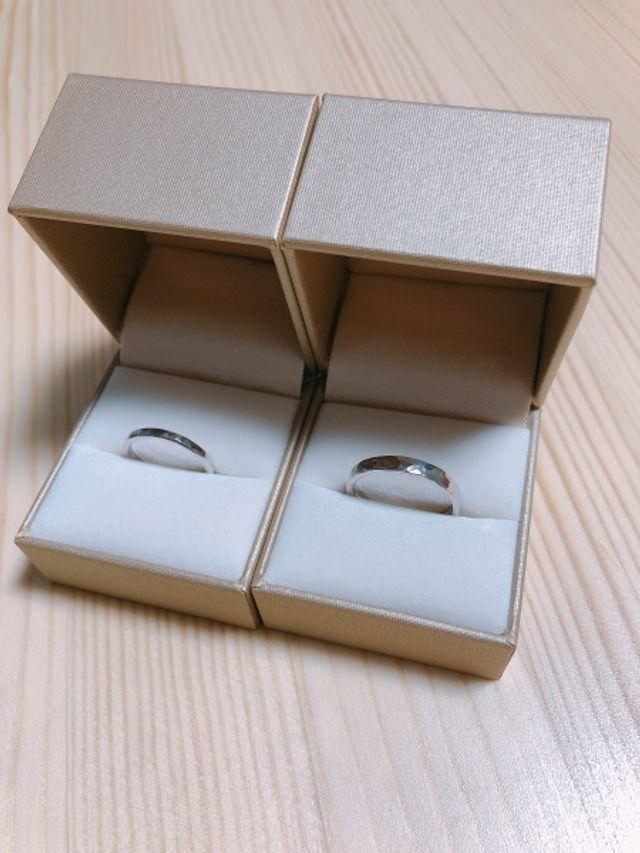 鎚目の結婚指輪コースです。