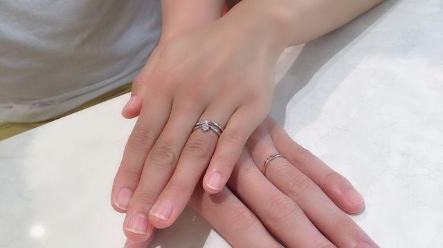 婚約指輪と結婚指輪です!