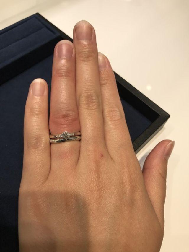 婚約指輪と結婚指輪のセット