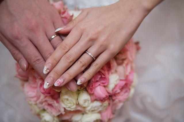 結婚式での写真です。