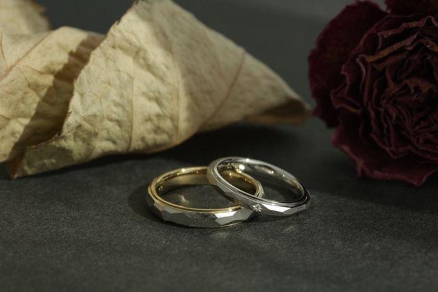 指輪を作った際に撮っていただきました。