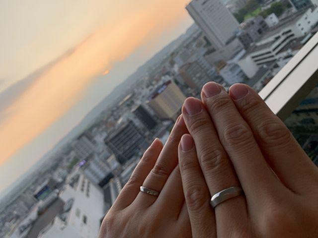 指輪が届いた日に撮影!