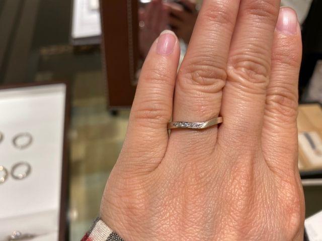 結婚指輪の試着です!
