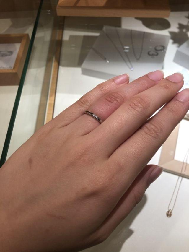 結婚指輪単体でつけました