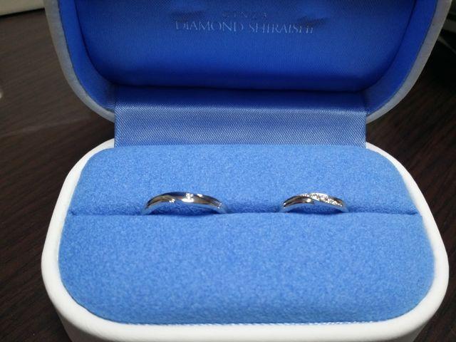 結婚指輪を購入しました!とても、満足しています!