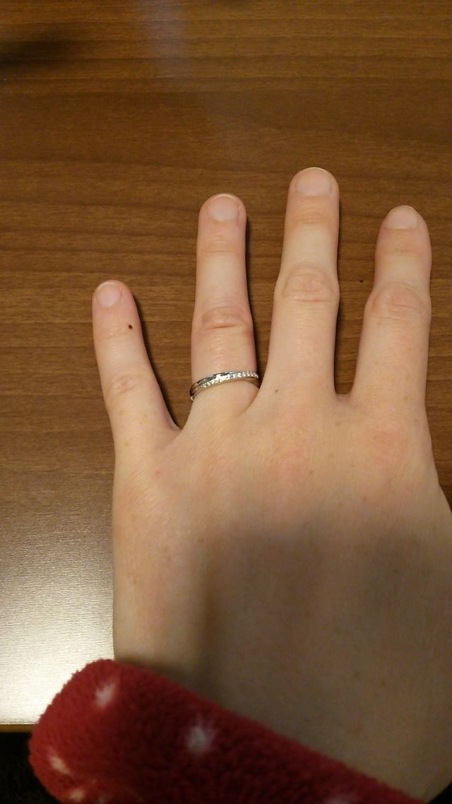 購入した指輪です。