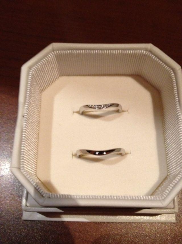 指輪を受け取りした直後です