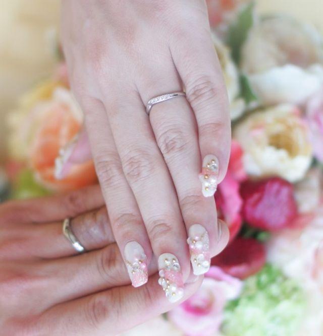 結婚指輪です。結婚式当日の写真です。