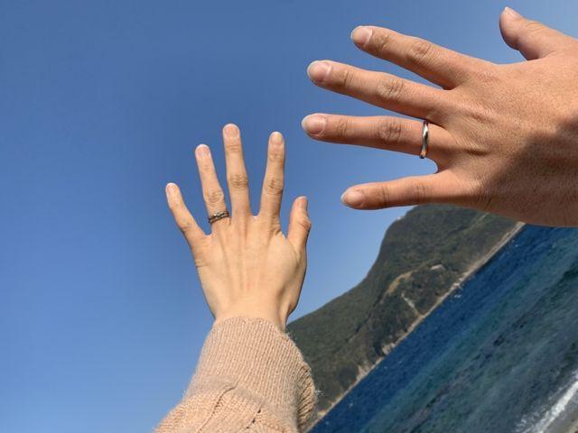 結婚指輪が届いてから近くにお出かけに行きました