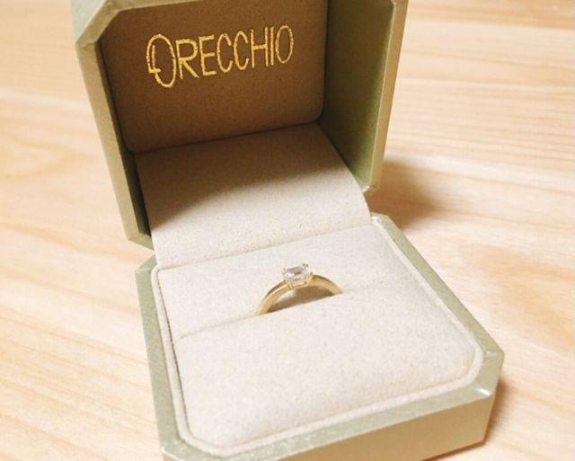 四角いダイヤモンドに惹かれて。私服にも合わせやすいです。