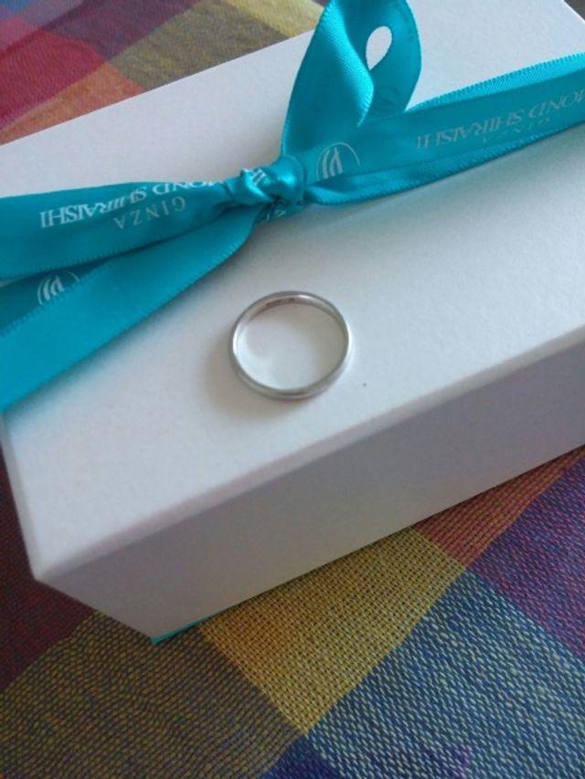 指輪のみの画像です。非常にシンプルな作りです。