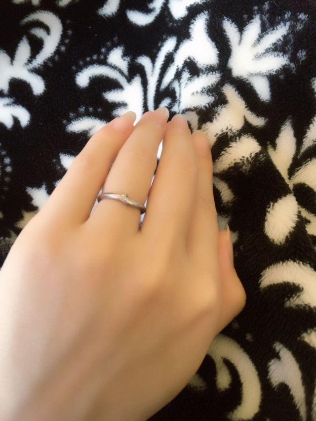 7号でNIWAKAの結という結婚指輪です。
